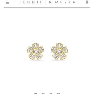 Jennifer Meyer 18k Yellow Gold Diamond Studs